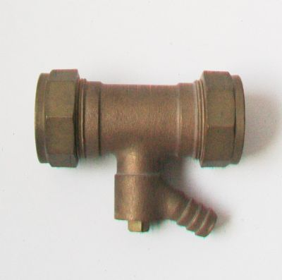 Prestex 28mm Compression Coupling with Integral Drain Off - 24832800